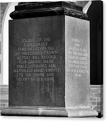 Confederate Monument Canvas Print - Imperishable by Patrick M Lynch