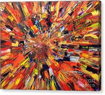 Pallet Knife Canvas Print - Implosion by Hector Garcia