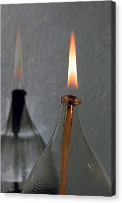 Impossible Shadow Oil Lamp Canvas Print
