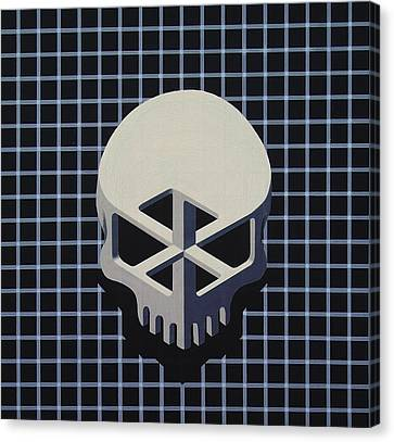 Impossible Skull Canvas Print by Drew Spence