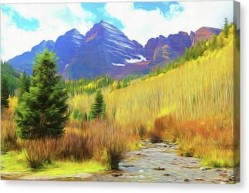 Impression, Maroon Bells Canvas Print by Eric Glaser