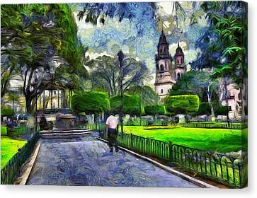 Impressionism Canvas Print - Impression Of Morelia #1 by Jean-Marc Lacombe
