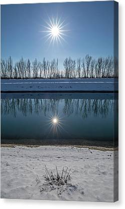 Canvas Print featuring the photograph Impression Of Reflection by Davorin Mance