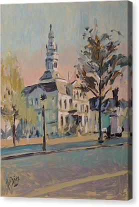 Impression Soleil Maastricht Canvas Print by Nop Briex