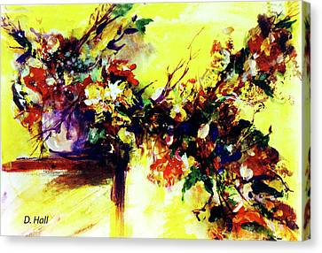 Impressionist Flowers #112, Canvas Print by Donald k Hall
