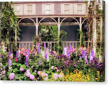 Impressionist Garden Canvas Print by Jessica Jenney