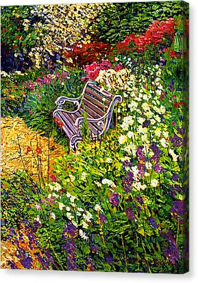 Impressionist Painter's Chair Canvas Print by David Lloyd Glover