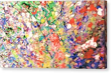 Impressionistic Floral Fantasy  Canvas Print by Anne-Elizabeth Whiteway