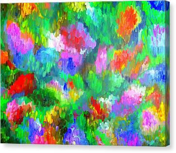 Impressionistic Garden Canvas Print