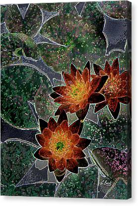 Impressionistic Lilies Canvas Print by Gordon Beck