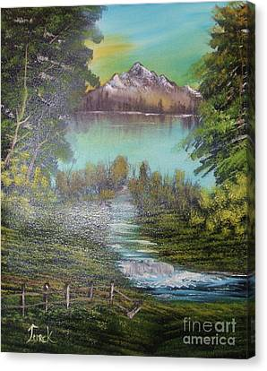 Bob Ross Canvas Print - Impressions In Oil - 11 by Bill Turck