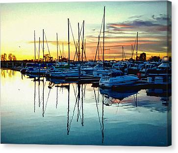 Canvas Print featuring the photograph Impressions Of A San Diego Marina by Glenn McCarthy Art and Photography