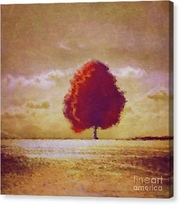 Reds Of Autumn Canvas Print - Impressions Of Autumn by KaFra Art