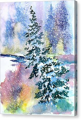 Impressions Of Christmas Canvas Print