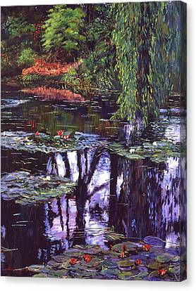 Impressions Of Giverny Canvas Print by David Lloyd Glover