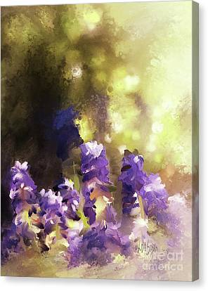 Canvas Print featuring the digital art Impressions Of Muscari by Lois Bryan