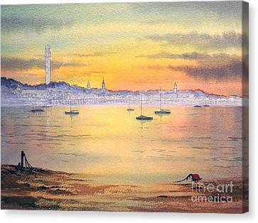 Canvas Print featuring the painting Impressions Of Provincetown by Bill Holkham