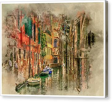 Impressions Of Venice Canvas Print by Brian Tarr