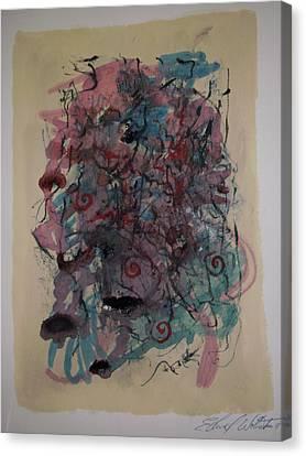 Improvisation Two Canvas Print by Edward Wolverton