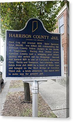 In-31.1965.2 Harrison County Jail Canvas Print by Jason O Watson