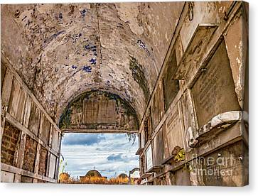 Canvas Print - In A Crypt In Nola by Kathleen K Parker