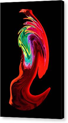In A Frenzy Canvas Print
