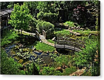 In A Midwest Japanese Garden Canvas Print by Mary Machare