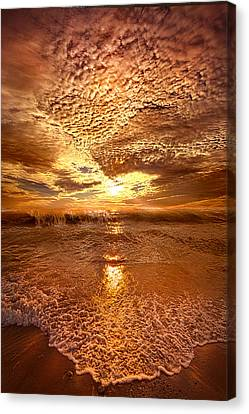 In A Moment Or Two Canvas Print by Phil Koch