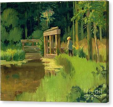 In A Park Canvas Print by Edouard Manet