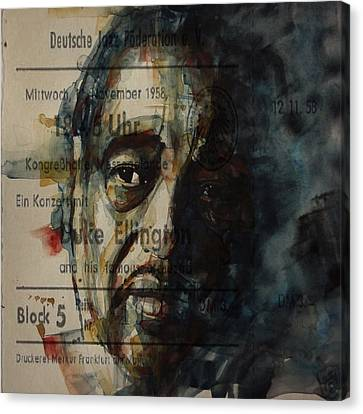 In A Sentimental Mood Duke Ellington Canvas Print by Paul Lovering