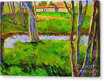 In A Wood With A Creek Canvas Print