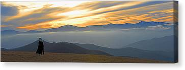 Admiring The View Canvas Print - In Awe Of The View by Alan Lenk