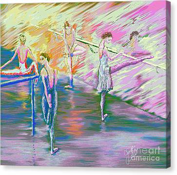 In Ballet Class Canvas Print by Cynthia Sorensen