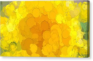 In Color Abstract 14 Canvas Print by Cathy Anderson