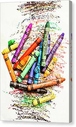 In Colours Of Broken Crayons Canvas Print