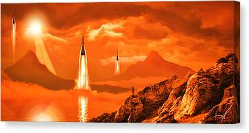 Canvas Print featuring the photograph In Defense Of The Orange Planet by Anthony Citro