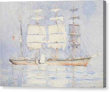 In Falmouth Bay Canvas Print by Henry Scott Tuke