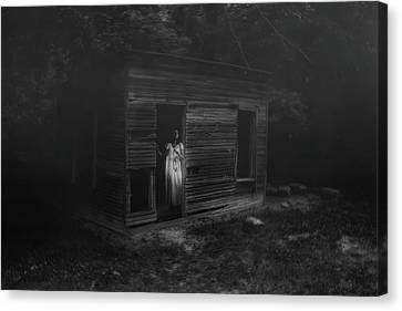 In Fear She Waits Canvas Print by Tom Mc Nemar