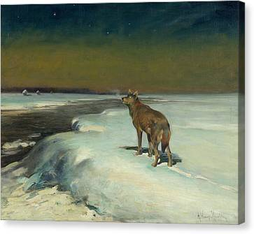 In February  Canvas Print by Alfred Kowalski
