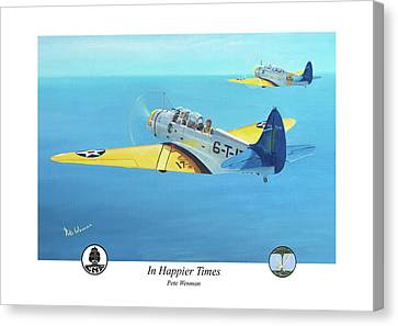 In Happier Times Canvas Print by Pete Wenman