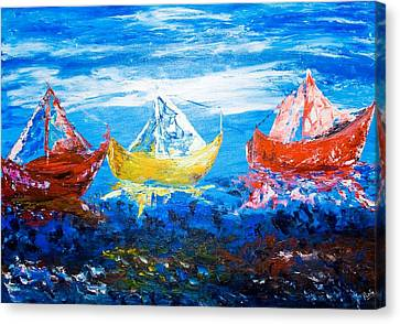 Canvas Print featuring the painting In Harmony by Piety Dsilva