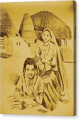 In Her Company Canvas Print by Navjinder Kainthrai