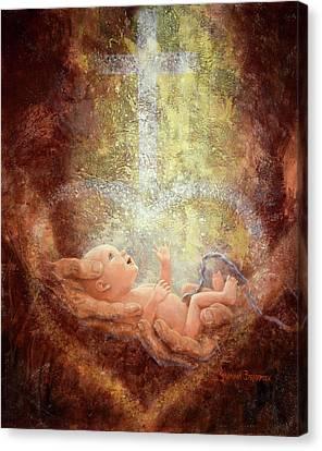 Nurture Canvas Print - In His Hands by Graham Braddock