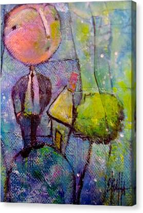Canvas Print featuring the painting In His World by Eleatta Diver