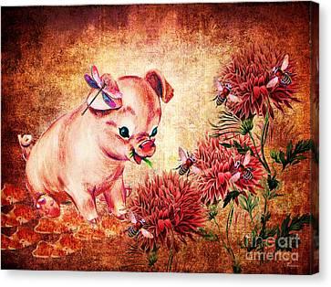 In Hog Heaven Canvas Print
