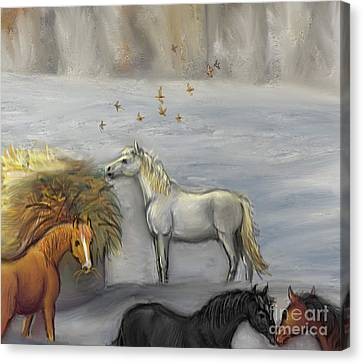 In Honor Of Greyboy Canvas Print by Dawn Senior-Trask