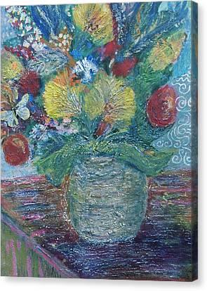 In Honor Of My Friends In My Garden Canvas Print by Anne-Elizabeth Whiteway