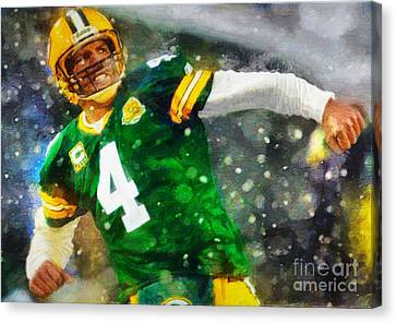 In Honor Of Number 4 The Living Legend Canvas Print