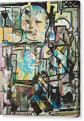 In Kitchen Canvas Print by James Christiansen
