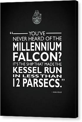In Less Than 12 Parsecs Canvas Print by Mark Rogan